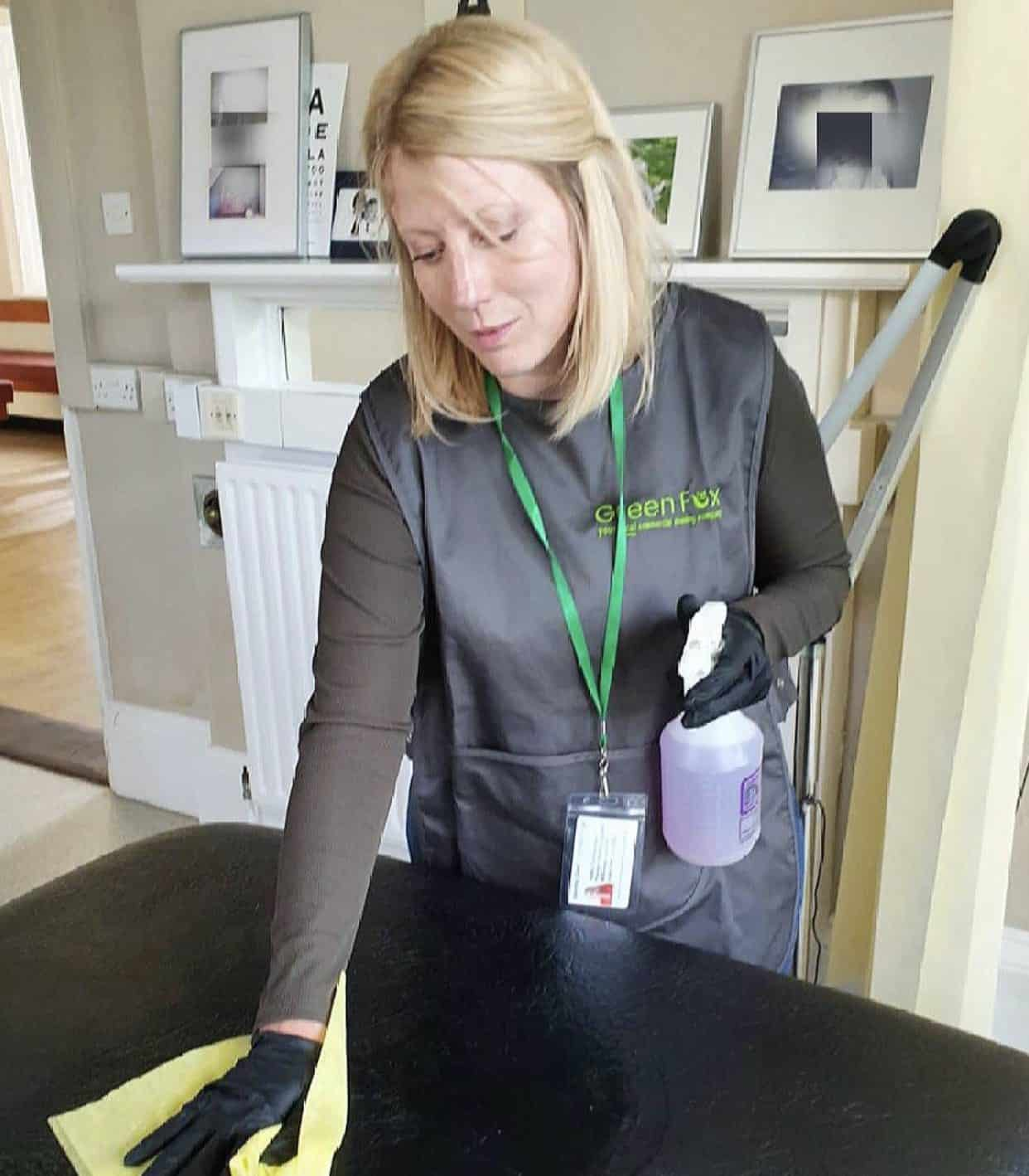 Doctors surgery cleaning