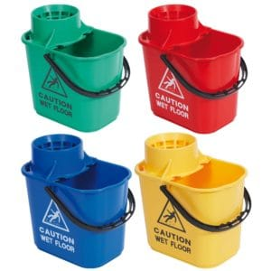 Cross contamination can be avoided in part through colour coded buckets