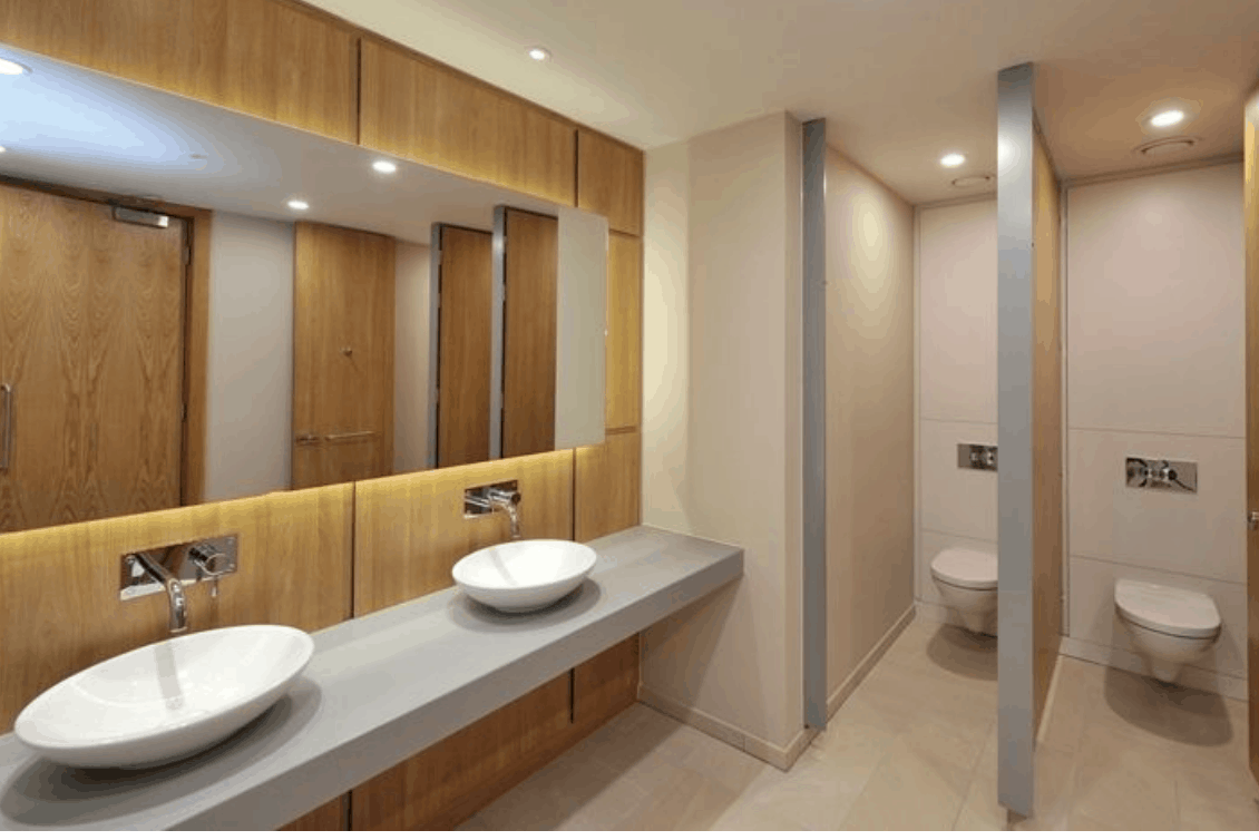 How to clean office washrooms