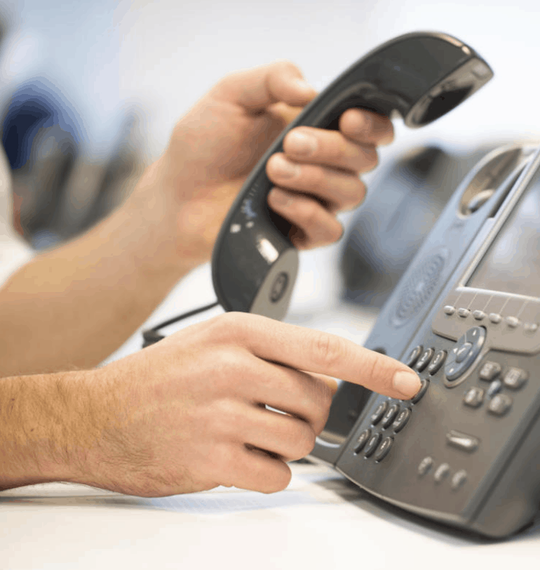 clean an office phone